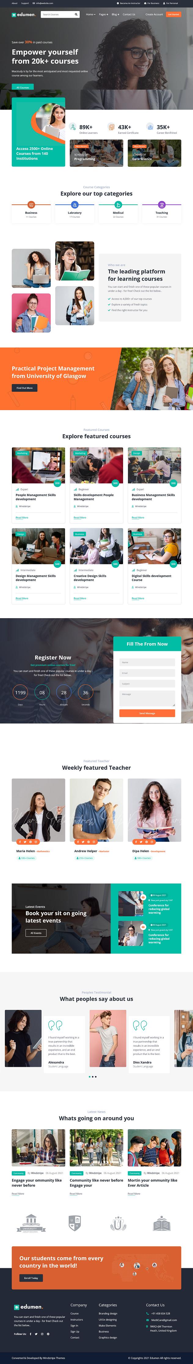 education joomla4 template